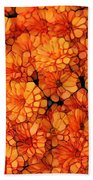 Orange Mums Beach Towel
