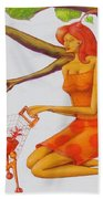 Orange Olga Beach Towel