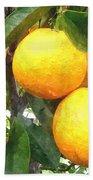 Orange On Tree Beach Towel