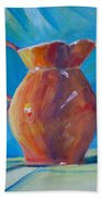Orange Pitcher Still Life Beach Towel