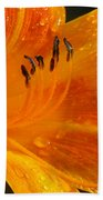 Orange Rain Beach Towel