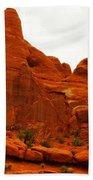 Orange Rock Beach Towel