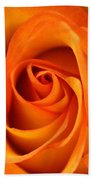 Orange Rose Beach Towel