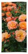 Orange Roses Beach Towel