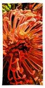 Orange Spice Floral  Beach Towel