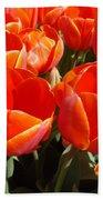 Orange Spring Tulip Flowers Art Prints Beach Towel