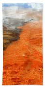 Orange Stones Beach Towel