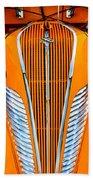 Orange Terraplane Beach Towel