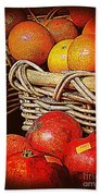 Oranges And Persimmons Beach Towel
