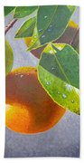 Oranges Beach Towel by Carey Chen