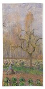 Orchard At Pontoise Beach Towel by Camille Pissarro