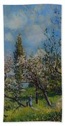 Orchard In Spring Beach Towel