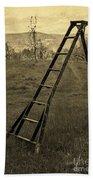 Orchard Ladder Beach Towel by Edward Fielding
