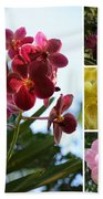 Orchid Collage Beach Towel