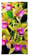 Orchid Flower Bunch Beach Towel