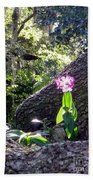 Orchid In Tree 2 Beach Towel