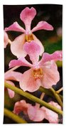 Orchid Number 17 Beach Towel