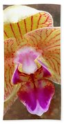 Orchid On Marble Beach Towel