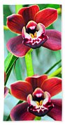 Orchid Rusty Beach Towel by Marty Koch