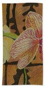 Orchid With Tapa Beach Towel