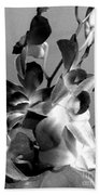 Orchids 2 Bw Beach Towel