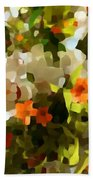 Orchids And Hydrangea Beach Towel