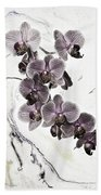 Orchids And Suminagashi Beach Towel