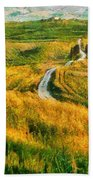 Orcia Valley Beach Towel