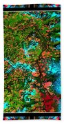 Oregon Cascades Nasa Satellite Beach Towel
