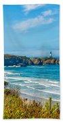Oregon Coast Lighthouse Beach Towel