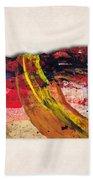 Oregon Map Art - Painted Map Of Oregon Beach Towel