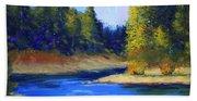 Oregon River Landscape Beach Towel
