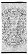 Oreo In Grey Beach Towel
