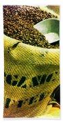 Organic Coffee Beach Towel