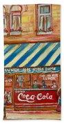 Original Bank Notre Dame Street Beach Sheet