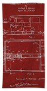 Original Harleigh Holmes Automobile Patent 1932 Beach Towel