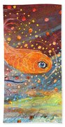 Original Painting Fragment 09 Beach Towel