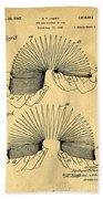 Original Slinky Toy Patent Beach Towel