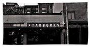Original Starbucks Black And White Beach Sheet