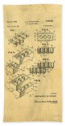 Original Us Patent For Lego Beach Towel by Edward Fielding