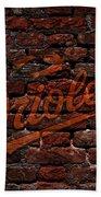 Orioles Baseball Graffiti On Brick  Beach Towel