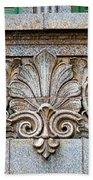 Ornamental Scrollwork Panel - Architectural Detail Beach Towel