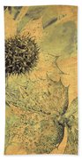 Ornamental Thistle Flower Beach Towel