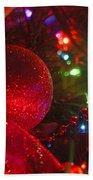 Ornaments-2107-happyholidays Beach Towel