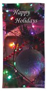 Ornaments-2143-happyholidays Beach Towel