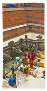 Ornate Fountains With Holy Water From The Bagmati River In Patan Durbar Square In Lalitpur-nepal   Beach Towel