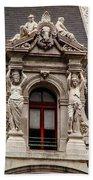 Ornate Window Of City Hall Philadelphia Beach Towel