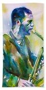 Ornette Coleman - Watercolor Portrait Beach Towel