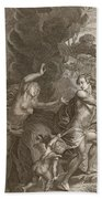 Orpheus, Leading Eurydice Out Of Hell Beach Towel