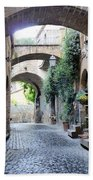 Orvieto Street With Arches Beach Towel
